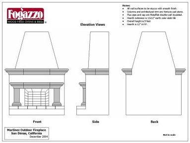 Outdoor Fireplace Blueprints