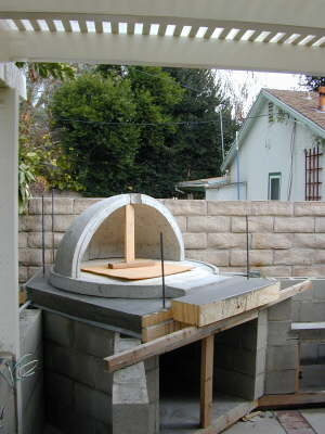 Rear oven dome