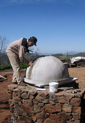 Mason grouting oven dome