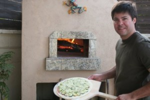 Zucchini wood fired pizza